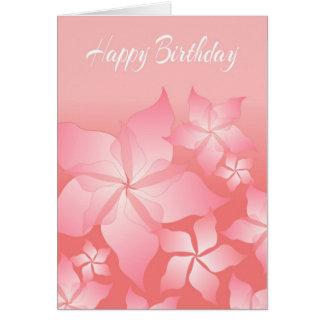 Schöne rosa abstrakte Geburtstags-mit Blumenkarte Grußkarte