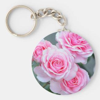 Schöne rosa Rosen Schlüsselanhänger