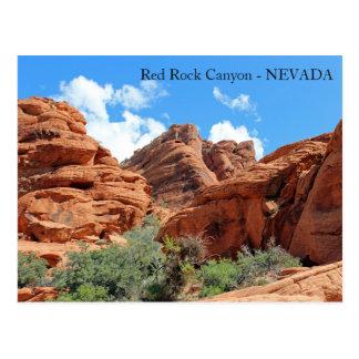 Schöne rote Felsen-Schlucht-Postkarte! Postkarte
