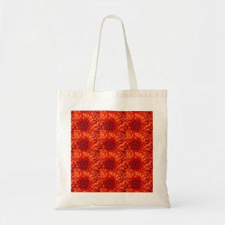 Schöne rote geblühte Taschen-Tasche mit dem Tragetasche