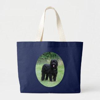 Schöne schwarze Briard HundeeinkaufsTaschentasche, Jumbo Stoffbeutel