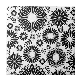 Schöne Schwarzweiss-Fliese Kleine Quadratische Fliese