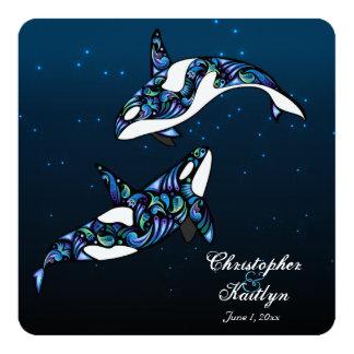 Schöne Schwertwal-Wale, die Einladung Wedding sind