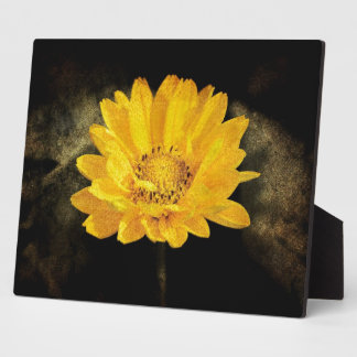 Schöne Sonnenblume mit dunkles Brown-Hintergrund Fotoplatte