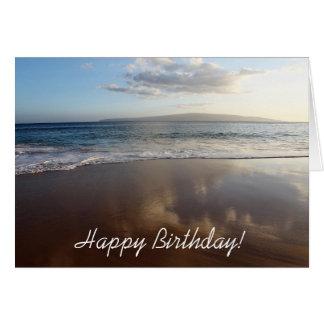 Schöne Strand-alles- Gute zum Geburtstagkarte Karte