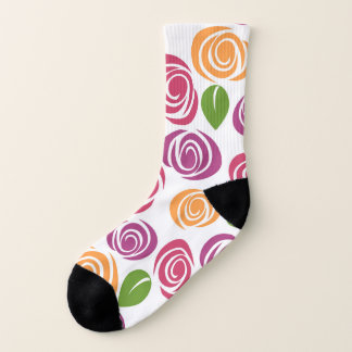 Schöne Strudel-Rosen-Blumenmuster Socken
