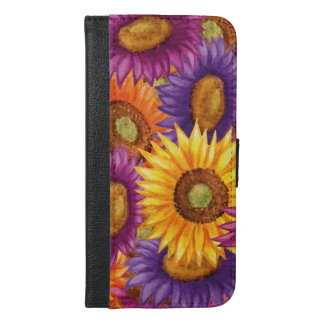 Schöne Sun-Blumen iPhone 6/6s Plus Geldbeutel Hülle