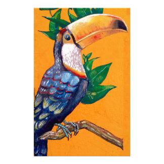 Schöne Toucan Vogel-Malerei Briefpapier
