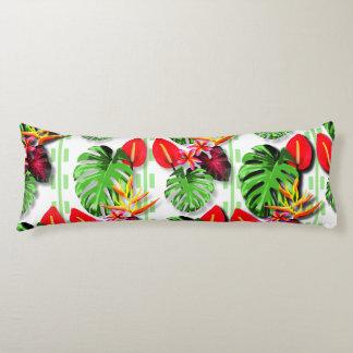 Schöne Trendy tropische das Blatt-Blume der Frauen Seitenschläferkissen