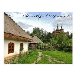 Schöne Ukraine-Postkarte/ukrainisches Dorf Postkarte