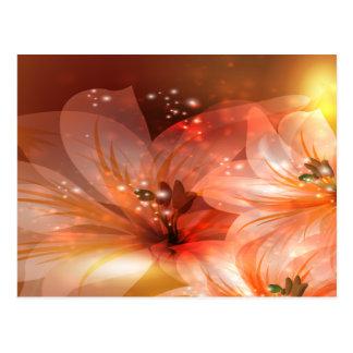 Schöne und orange Blumen Postkarte