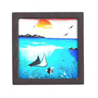 Schöne Unterwasserszenen-Malerei Schachtel