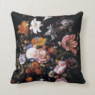 Schöne vibrierende Blumenkunst Kissen