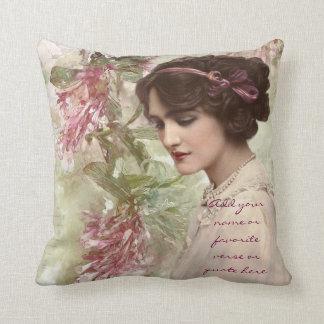 Schöne Vintage viktorianische Dame Actress Kissen