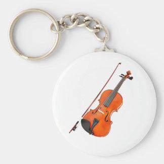 Schöne Viola-Musikinstrument Standard Runder Schlüsselanhänger
