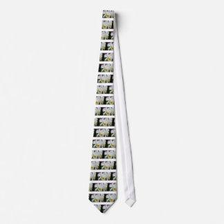 Schöne weiße Orchideen in der Personalisierte Krawatten