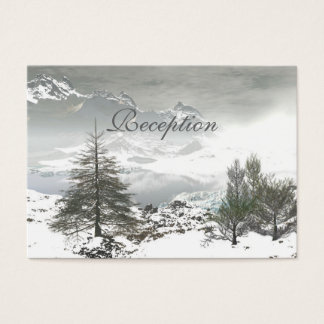 Schöne Winter-Gebirgshochzeits-Empfangs-Karten Visitenkarte