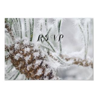 Schöne Winter Hochzeit, Schneeflocken und Pinecone Karte