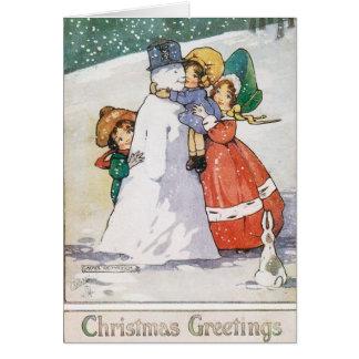 Schöne Zwanzigerjahre Weihnachtskarte Grußkarte