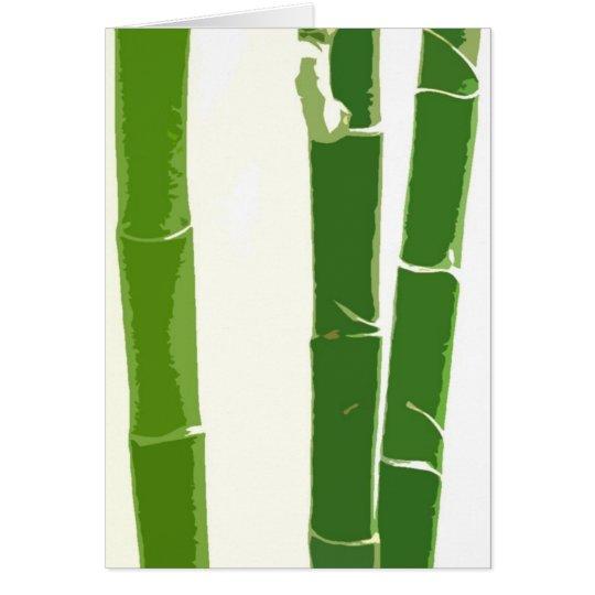 Schöner Bambus Grußkarte