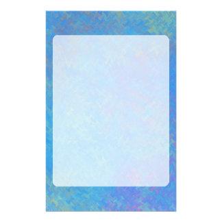 Schöner Blau-gemarmortes Papier-Blick Briefpapier