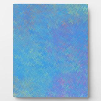 Schöner Blau-gemarmortes Papier-Blick Fotoplatte