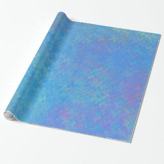 Schöner Blau-gemarmortes Papier-Blick Geschenkpapier