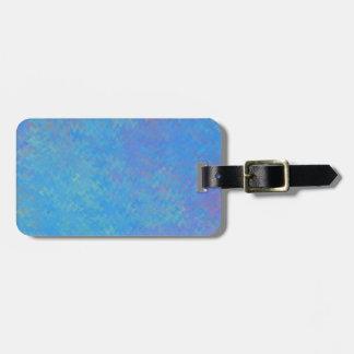 Schöner Blau-gemarmortes Papier-Blick Kofferanhänger