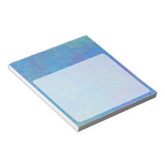 Schöner Blau-gemarmortes Papier-Blick Notizblock