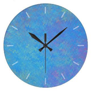 Schöner Blau-gemarmortes Papier-Entwurf Große Wanduhr