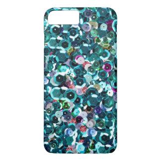 Schöner blauer photographischer Paillette-Schein iPhone 8 Plus/7 Plus Hülle