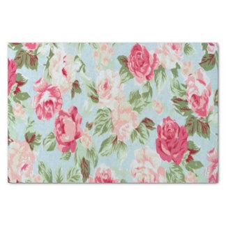 schöner, Blumen-, rosa, Vintager, viktorianischer, Seidenpapier