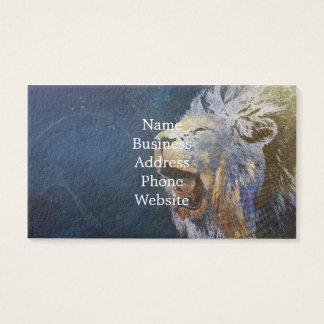 Schöner bunter Löwe Visitenkarte