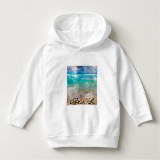 Schöner Cancun-Strand - Digital-Aquarell Hoodie