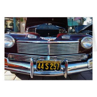 Schöner Chrom-Grill klassischen Mercury-Autos Karte