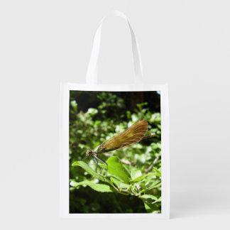 Schöner Demoiselle-wiederverwendbare Tasche Wiederverwendbare Einkaufstasche