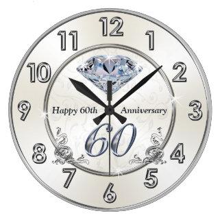 Schöner Diamant-60. Hochzeitstag-Uhren Uhren