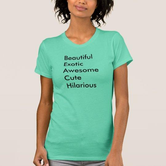 Schöner exotischer fantastischer niedlicher T-Shirt