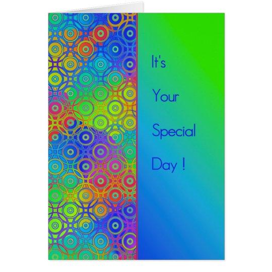 Schöner farbige Kreis-Musterspecial-Tag Grußkarte