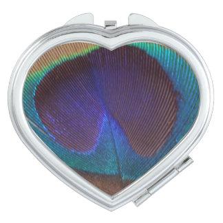 Schöner Feder-Herz-Vertrags-Spiegel Taschenspiegel