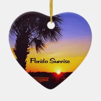 Schöner Florida-Sonnenaufgang Keramik Ornament