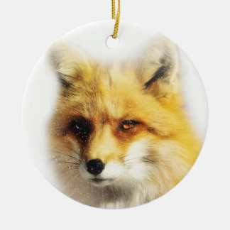 Schöner Fox und Rundes Keramik Ornament