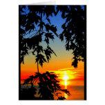 Schöner Geburtstags-Sonnenaufgang zum Grußkarte