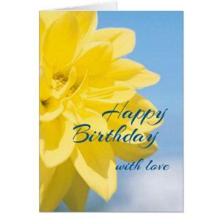 Schöner gelber Blumen-Geburtstag Karte