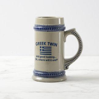 Schöner griechischer Zwilling Bierkrug