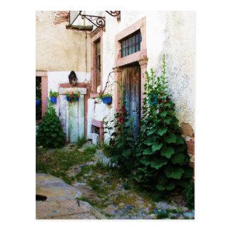 Schöner Hof in Kreta, Griechenland Postkarte
