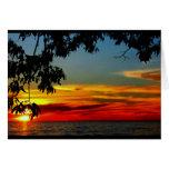 Schöner Jahrestag von Sonnenaufgang zu Grußkarte