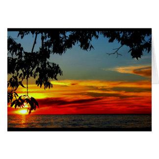 Schöner Jahrestag von Sonnenaufgang zu Karte