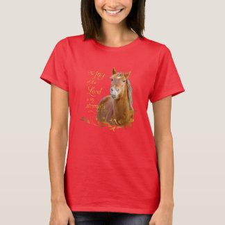 Schöner Kastanien-Pferdebibel-Vers-T - Shirt