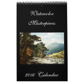 Schöner Kunst-Kalender der Aquarell-Malerei-2016 Kalender